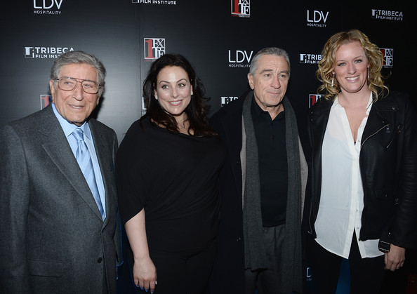 photo credit: WireImage L-R, Tony Bennett, Johanna Bennett, Robert De Niro, Mandy Ward